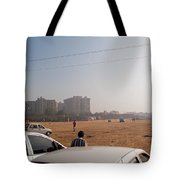 An Almost Empty Parking Lot At Surajkand Fair In India Tote Bag