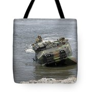 An Amphibious Assault Vehicle Climbs Tote Bag