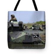 An Amphibious Assault Vehicle Enters Tote Bag