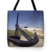 An Anchor Sits At The Entrance Tote Bag by Terry Moore