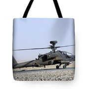 An Apache Helicopter Prepares Tote Bag