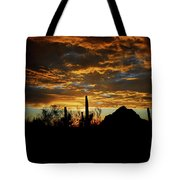 An Arizona Desert Sunset  Tote Bag