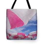 An Arrangement Of Pink And White Beach Tote Bag