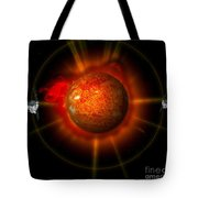 An Artists Concept Of The Stereo Tote Bag by Stocktrek Images