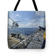 An As-332 Super Puma Helicopter Tote Bag
