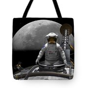 An Astronaut Takes A Last Look At Earth Tote Bag