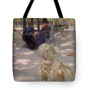 An August Afternoon At The Luxembourg Tote Bag by Henri-edmond Cross