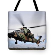 An Australian Army Tiger Helicopter Tote Bag