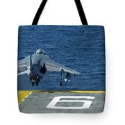 An Av-8b Harrier II Launches From Uss Tote Bag