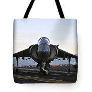 An Av-8b Harrier Maneuvers Tote Bag