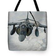 An Av-8b Harrier Receives Fuel Tote Bag
