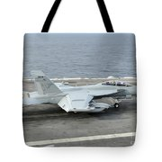 An Ea-18g Growler Makes An Arrested Tote Bag