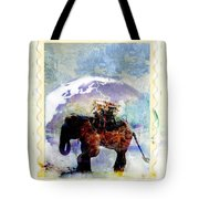 An Elephant Carrying Cargo Tote Bag