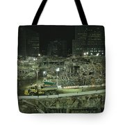 An Elevated View Of Ground Zeros Tote Bag