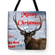 An Elk Christmas Tote Bag