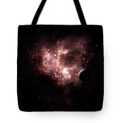 An Emission Nebula Is Viewed From Neaby Tote Bag