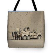 An Eod Cougar Mrap In A Wadi Tote Bag