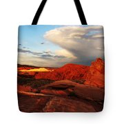 An Evening In The Valley Of Fire Tote Bag
