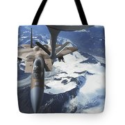 An F-15c Eagle Aircraft Sits Tote Bag by Stocktrek Images