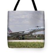 An F-15c Eagle Baz Aircraft Tote Bag