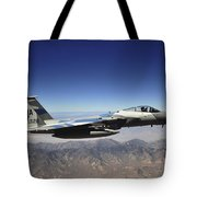 An F-15e Strike Eagle From The 65th Tote Bag