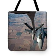 An F-16 Fighting Falcon Moves Tote Bag