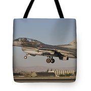 An  F-16b Of The Turkish Air Force Tote Bag