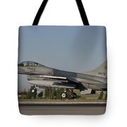 An  F-16c Of The Pakistan Air Force Tote Bag