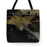 An F-35b Lightning II Is Secured Tote Bag