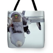An Fa-18 Super Hornet Receives Fuel Tote Bag