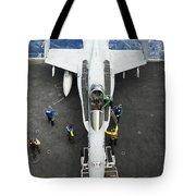 An Fa-18c Hornet Aircraft Tote Bag