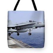 An Fa-18c Hornet Catapults Tote Bag