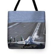 An Fa-18d Hornet Launches Tote Bag
