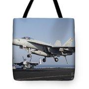 An Fa-18e Super Hornet Prepares Tote Bag