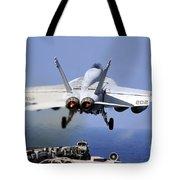 An Fa-18e Super Hornet Takes Tote Bag