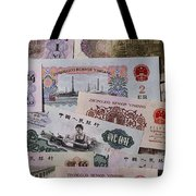 An Image Of Chinas Colorful Paper Money Tote Bag