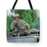 An Infantry Soldier Of The Belgian Army Tote Bag
