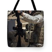 An Infantryman Talks To His Marines Tote Bag