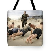 An Instructor Observes Recruits Tote Bag