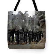 An Instructor Stands Face-to-face Tote Bag by Stocktrek Images