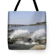 An Interior Bay Blooms Open Tote Bag