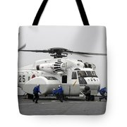 An Mh-53e Super Stallion Helicopter Tote Bag