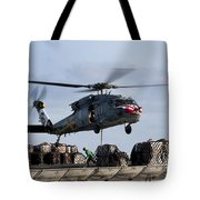 An Mh-60s Sea Hawk Lifts Cargo Tote Bag