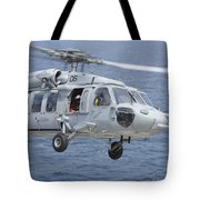 An Mh-60s Sea Hawk Search And Rescue Tote Bag