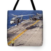 An Mh-60s Seahawk Helicopter Prepares Tote Bag