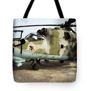 An Mi-24 Russian Helicopter Tote Bag