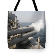 An Mk-46 Recoverable Exercise Torpedo Tote Bag