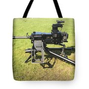 An Mk19 40mm Machine Gun Tote Bag by Andrew Chittock
