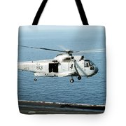 An Sh-3h Sea King Helicopter Prepares Tote Bag