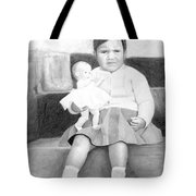 Ana With Dolly Tote Bag